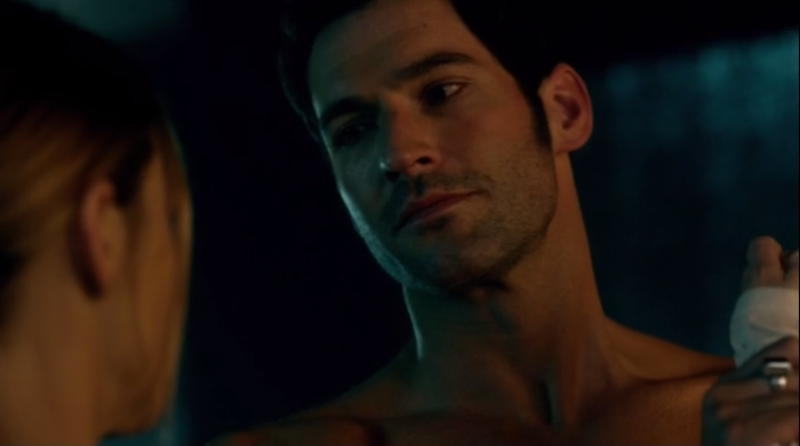 Lucifer Reacts To Chloe Touching His Wing Scars