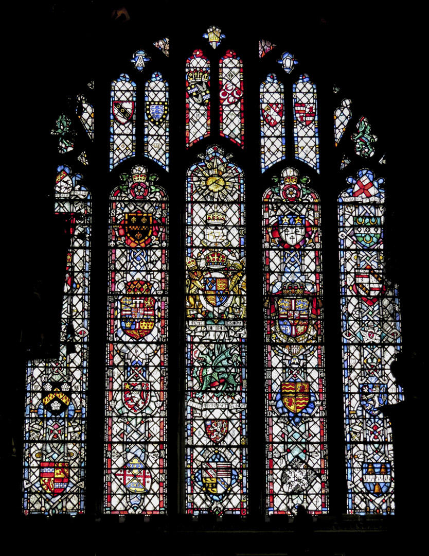 Stained glass windows at Canterbury Cathedral