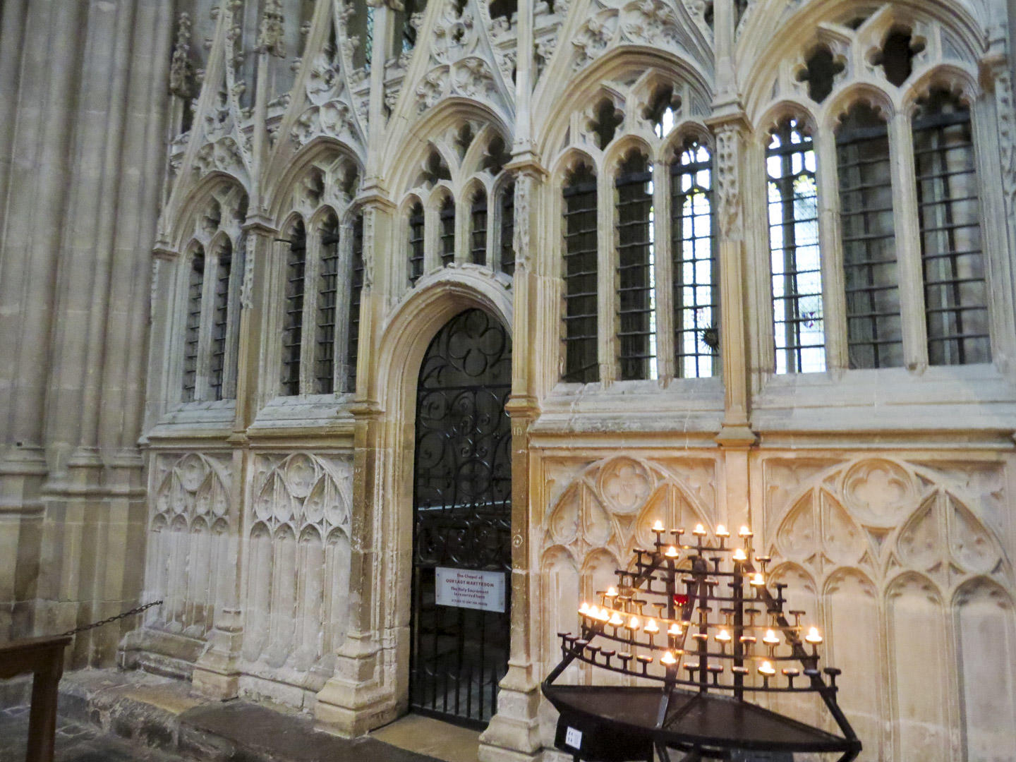 A small chapel at Canterbury Cathedral