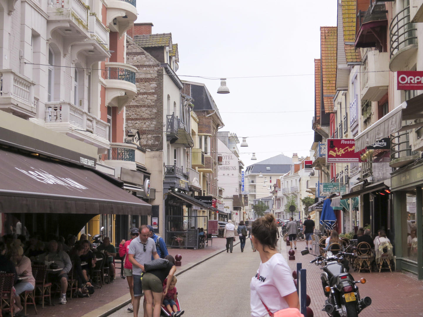 Looking down a street in Le Touquet, France