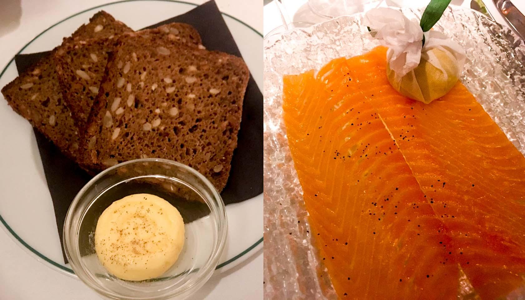 Ivy Soho Brasserie Oak Smoked Salmon and Rye Soda Bread